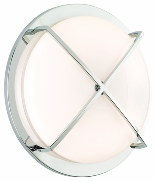 CSL SS1045B-CH Intrigue Fluorescent Flush Mount Ceiling or Wall Light - 19 inches