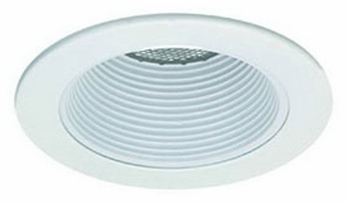 Liton LRM993 4 Inch Line Voltage Contemporary Halogen Recessed Metal Baffle Trim