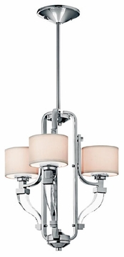 Kichler 42661CH Point Claire Duo-Mount Semi-flush Ceiling Light and Pendant