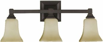 Feiss VS12403ORB American Foursquare 3 Light Oil Rubbed Bronze Vanity Wall Lighting Fixture