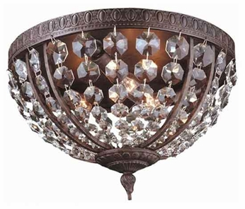 World Imports 260606 Bijoux Traditional Flush-Mount Ceiling Light