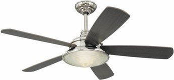 Hudson Valley 7599-PN Woodstock Ceiling Fan in Polished Nickel