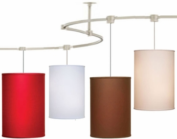 Tech TT-DELANCEY T-Trak Delancey Fabric Ceiling Light with Fluorescent Option