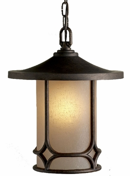Kichler 9827AGZ Chicago 13 Inch Outdoor Ceiling Pendant Lantern