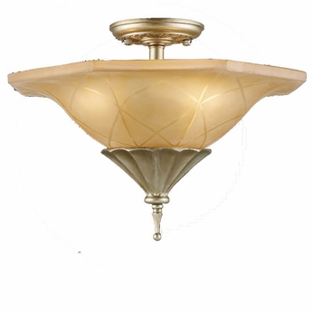 ELK 3825-3 Chelsea Trump Semi-Flush Ceiling Light