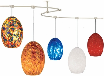 Tech TT-MONTANA T-Trak Montana Glass Line-Voltage Pendant Light with Fluorescent Option