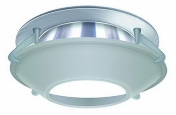 Liton LR963 4 Inch Line Voltage Contemporary Halogen Recessed Deco Glass Shield Open Cone Trim