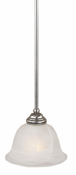 Quoizel DY1533ES Delray Empire Silver Piccolo Mini Pendant Lamp with Faux Etched Alabaster Glass