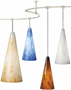 Tech TT-STARRYNIGHT T-Trak Starry Night Glass Line-Voltage Pendant Light with Fluorescent Option