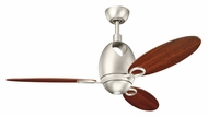 Kichler 300155NI7 Merrick Contemporary 3 Blade Brushed Nickel Ceiling Fan Lighting