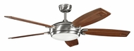 Kichler 300156BSS Trevor Brushed Stainless Steel Ceiling Fan Light - 60 Inch Span