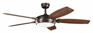Kichler 300156OBB Trevor 60 Inch Span Oil Brushed Bronze Modern Ceiling Fan