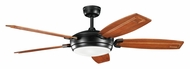 Kichler 300156SBK Trevor 5 Blade Contemporary Satin Black Ceiling Fan