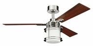 Kichler 300157PN Pacific Edge Polished Nickel Craftsman Style Ceiling Fan Lighting