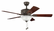 Kichler 300158SNB Athens Traditional Satin Natural Bronze 52 Inch Span Ceiling Fan Light