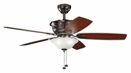 Kichler 300159OBB Tolkin Oil Brushed Bronze Traditional Ceiling Fan Light Fixture