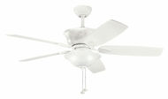 Kichler 300159SNW Tolkin Satin Natural White Ceiling Fan Lighting - Traditional