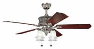 Kichler 300161AP Corinth Traditional 4 Lamp Antique Pewter Home Ceiling Fan Light