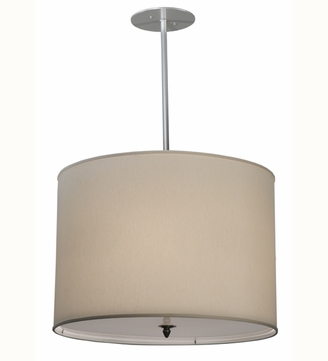 Meyda Tiffany 113850 Cilindro Cream Contemporary Fabric Pendant