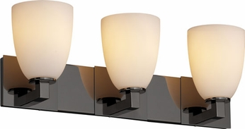 Justice Design FSN892318 Modular Fusion Short Tapered Shade Contemporary Three-Light Bathroom Lighting