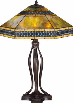 Meyda Tiffany 31227 Knotwork Cambridge Tiffany 3 Bulb Parasol Table Lighting Fixture
