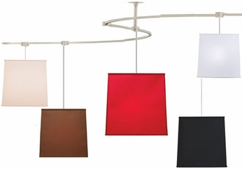 Tech TT-MADISON T-Trak Madison Square Fabric Ceiling Light with Fluorescent Option