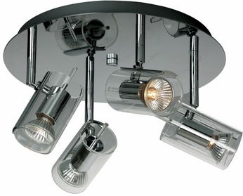 ET2 E22029-18 Flash 4 Light Contemporary Flushmount Ceiling Light