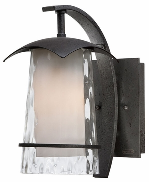 Quoizel MAF8406IR Mayfair Iron Finish Outdoor Lantern Wall Lighting Fixture
