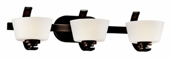 Kichler 45230OZ Rise Contemporary 3-light Bathroom Lighting in Olde Bronze
