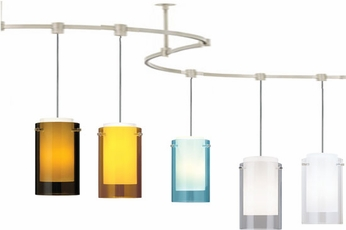 Tech TT-ECHO T-Trak Echo Glass Line-Voltage Pendant Light with Fluorescent Option