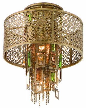Corbett 12331 Riviera Small Semi-Flush Ceiling Light