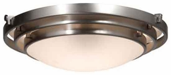 Artcraft AC2821 Springfield Small Contemporary Flush-Mount Ceiling Light with Brushed Nickel