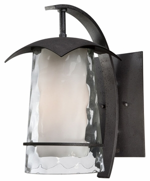 Quoizel MAF8407IR Mayfair Medium 15 Inch Tall Outdoor Iron Lantern Wall Fixture