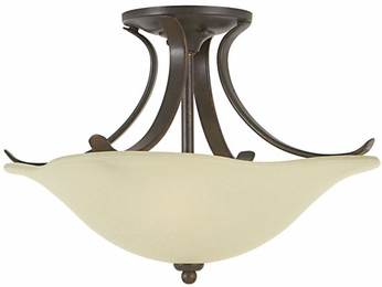 Feiss SF213-GBZ Morningside 2-light 15 inch Semi Flush Ceiling Light in Grecian Bronze