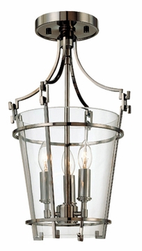 Hudson Valley 9008BN Fairview Contemporary Semi-Flush Ceiling Light