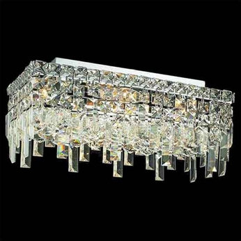 Worldwide 33628 Worldwide 16  4-light Semi-Flush Ceiling Light w/ Accent