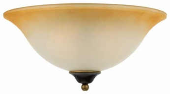 Quoizel DH1616PN Duchess Flush Mount Ceiling Light in Palladian Bronze