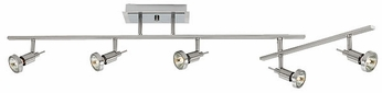 Access 52042-BS Celestial 5-Light Brushed Steel Monorail Light Kit