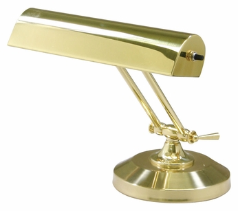 150 small polished brass finish 8 inch tall piano desk lamp lighting. Black Bedroom Furniture Sets. Home Design Ideas