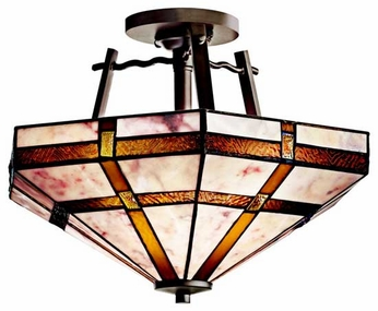 Kichler 65350 Tacoma Art Glass Semi-Flush Ceiling Light
