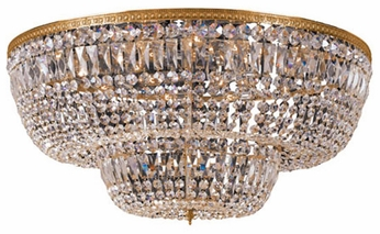 Crystorama 748 Myriad 48 inch 24-lite crystal ceiling light in Olde Brass