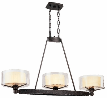 Troy F1718-FR Arcadia 3 Light French Iron Kitchen Island Fixture