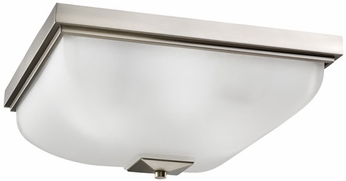 Kichler 7011NI Nickel Outdoor 18 Inch Sq. Flush Mount Exterior Ceiling Light