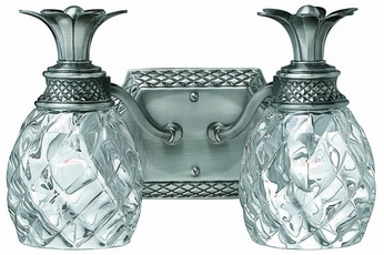 Hinkley 5312PL Plantation Nickel Tropical Two Light Vanity Light