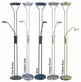 Lite Source LS80984 Duality II Modern Torchiere Floor/Reading Lamp
