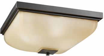 Kichler 7011OZ Olde Bronze Outdoor 18 Inch Sq. Flush Mount Exterior Ceiling Light