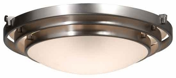 Artcraft AC2823 Springfield Large Contemporary Flush-Mount Ceiling Light with Brushed Nickel