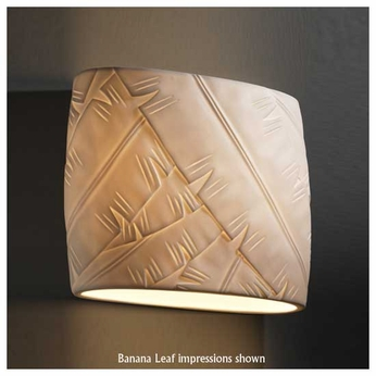 Justice Design POR8855 Oval Wide Porcelain Wall Sconce