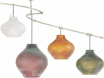 Tech TT-SCALP T-Trak Scavo Glass Line-Voltage Pendant Light with Fluorescent Option