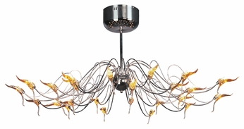 Trans Globe MDN-101 Polaris Contemporary 24 Bulb Semi Flush Ceiling Light